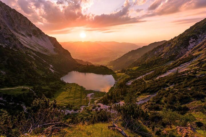 Gaisalpsee Sunset - Andreas Hagspiel Photography