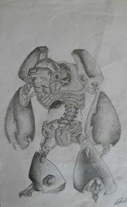 original robot pencil drawing