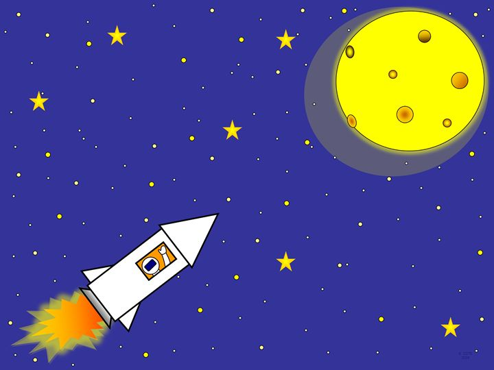 Rocket Ship to the Moon - Geraldine Cote