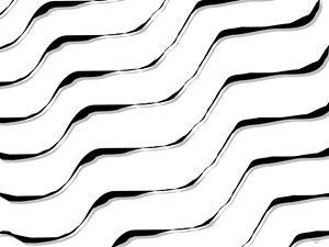 Floating White Tiger Stripe Waves