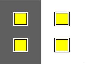 Square Windows Bright Lights
