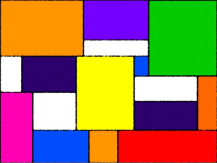 Multi-Coloured Rectangles and Square - Geraldine Cote