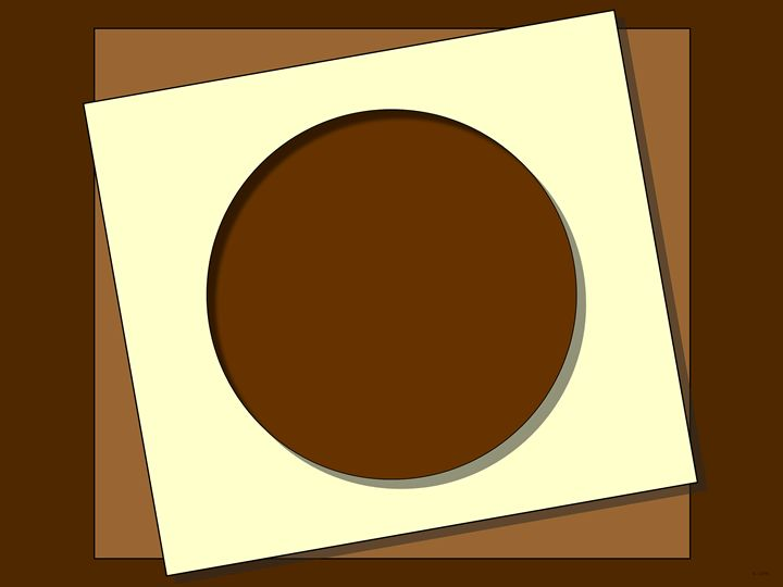Chocolate Squares And A Circle - Geraldine Cote