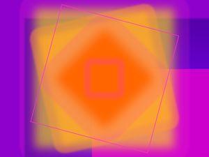 Tangerine and Orange Squares