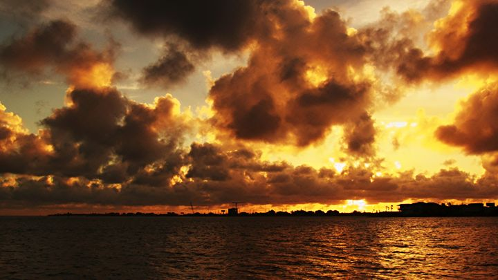 A Cloudy sunset over Offatts Bayou i - Robert Brown Photography