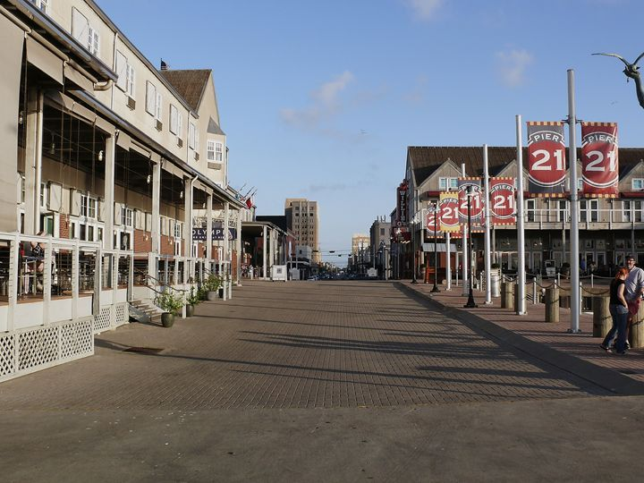 Looking to downtown Galveston, Texas - Robert Brown Photography