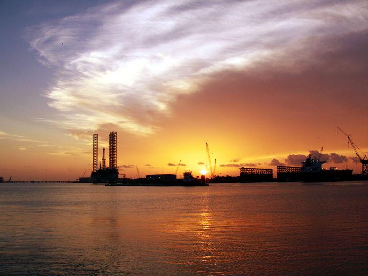 Harbor Sunset - Robert Brown Photography
