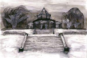 Mesnes Park, Wigan, UK, Winter
