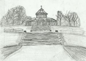 Mesnes Park, Wigan,UK Pencil Drawing
