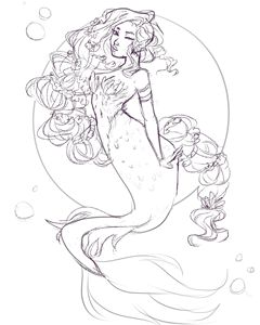 Bubbly Mermaid