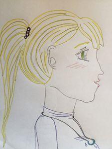 Anime doodle blushing