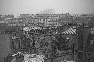 Paris romance in black and white