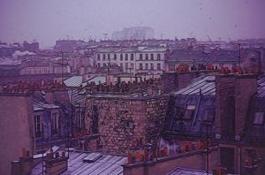 Paris romance in color