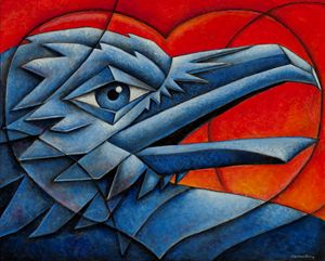 Cubist Love Bird