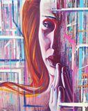 "woman portrait,"" the prayer """