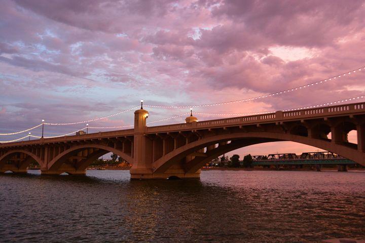 Bridge and Sunset - Richard W. Jenkins Gallery