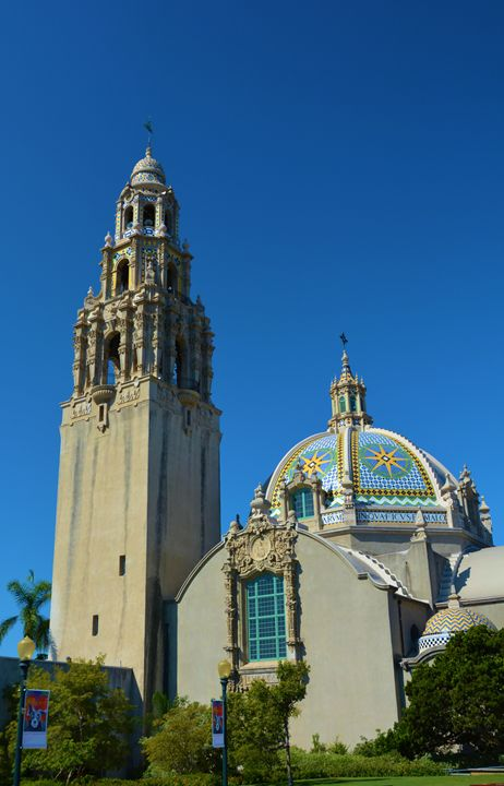 Bell Tower and Dome Balboa Park - Richard W. Jenkins Gallery