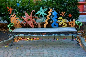 Artistic Park Bench - Richard W. Jenkins Gallery