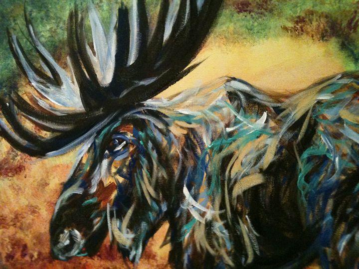 mean moose - Krazy Kanvas by Susan Monika