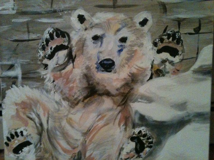 huggie bear - Krazy Kanvas by Susan Monika