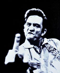 Johnny Cash, acrylics, canvas