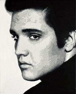 Elvis Presley, acrylics, canvas