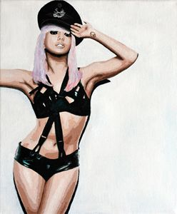 Lady Gaga, acrylics, canvas