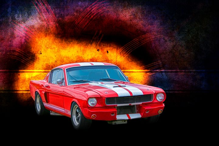 Red 1966 Mustang - Transchroma Photography