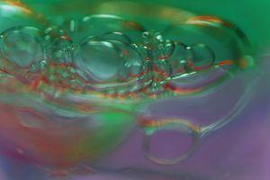 bubbles in green