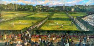 Wimbledon Tennis, England Lawn - New York Art Collection | Hall Groat Sr. & II