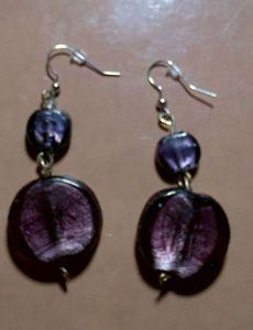 Purple two tone Earrings