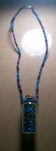 Vial Necklace- purple, black, blue
