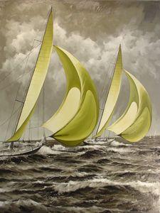 Thebaud Under Full Sail