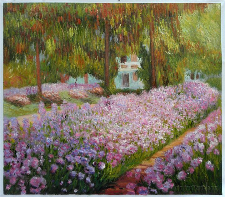 Irises in Monet's Garden Monet Arts - PaintingMania