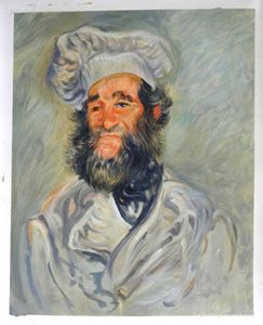 The Chef, Pere Paul,Monet Painting