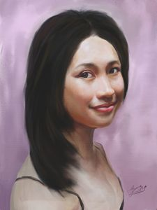 Custom oil portrait painting