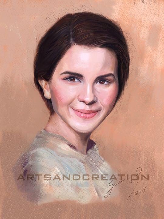 Full Color Pastel Portrait Drawing - artsandcreation