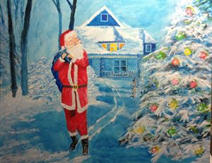 Santa - Christmas Tree