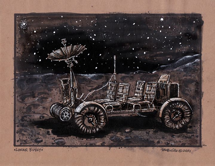 Lunar Buggy - The Sci-Fi World of Bob Bello