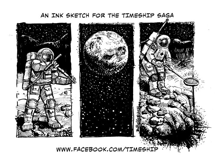 Timeship Promo Sketch - The Sci-Fi World of Bob Bello