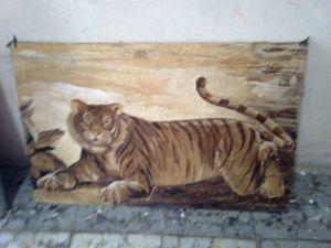 Unique painting Sumatran tiger