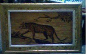 Unique painting Leopard