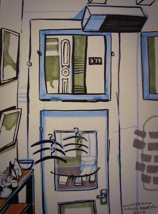 Cafe Interior,, Amsterdam - Cooper's Illustration