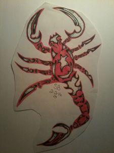 Tribal red scorpion