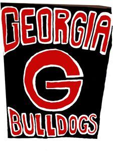 Georgia bulldog painting