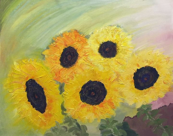 Sunflowers Expressions - Panuszka's paintings