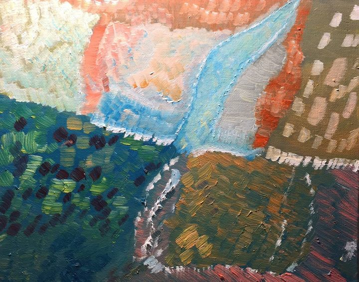 """Abstract """"Fields and Roads"""" - Panuszka's paintings"""