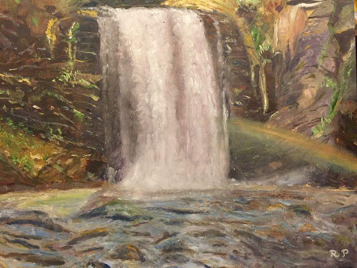 """Looking Glass Waterfall + Rainbow"" - Panuszka's paintings"