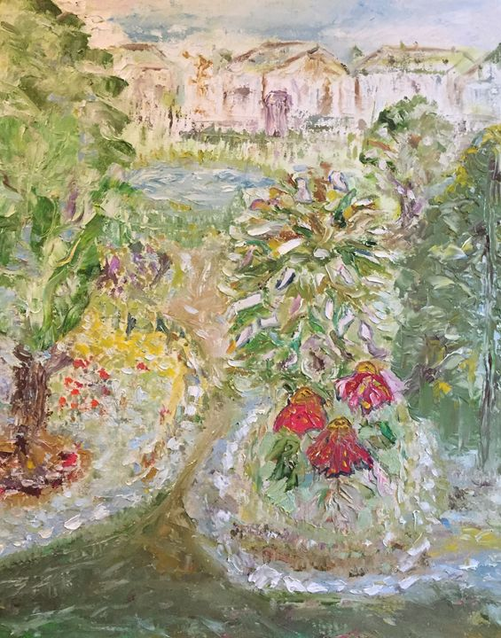 """""""Our flower bed"""" - Panuszka's paintings"""