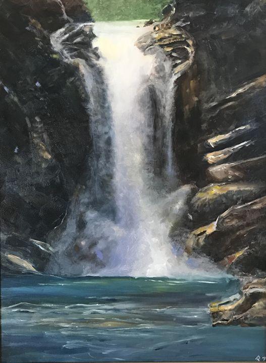 """Running Eagle Falls"" - Panuszka's paintings"